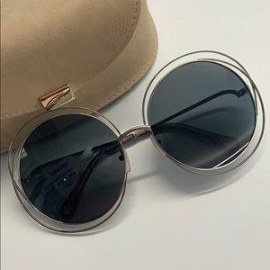 Accessories - Chloe Carlina Round Oversized Sunglasses